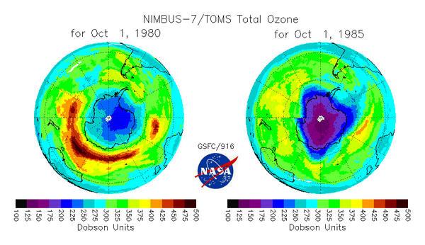 D couverte du trou d 39 ozone la couche d 39 ozone et le trou d 39 ozone recherche en environnement - Trou de la couche d ozone ...