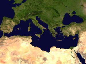 Vue satellite prise par la NASA du bassin méditerranéen